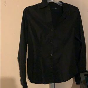 Limited black button down shirt sz M